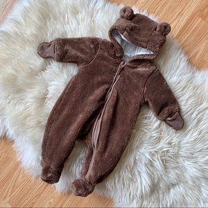 H&M brown bear baby bunting bag